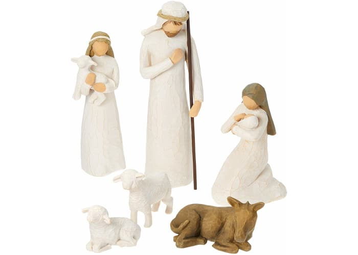 6-pc Willow Tree Hand-Painted, Sculpted Nativity