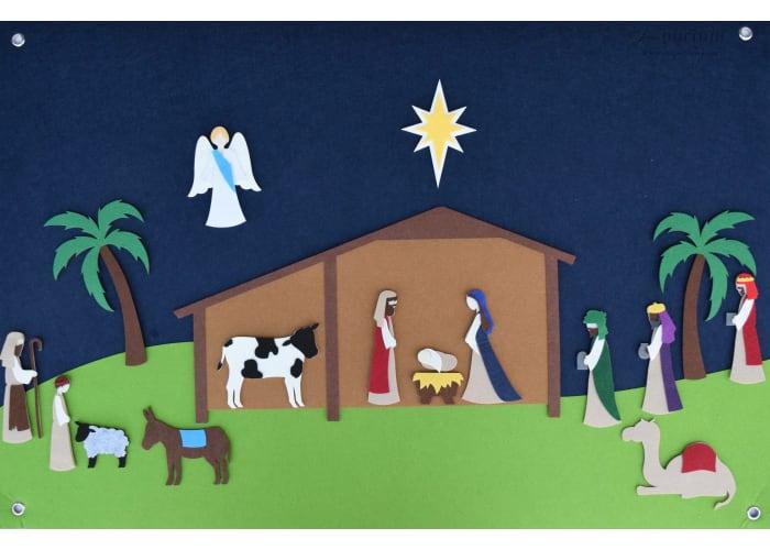 Interactive Nativity Felt Kit