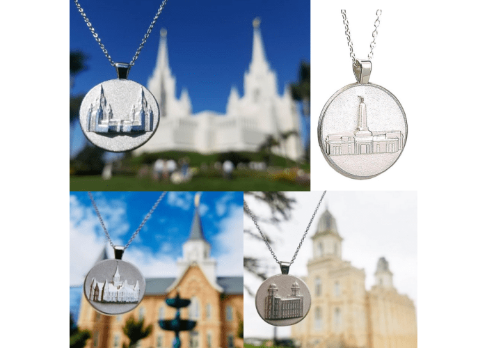 LDS Temple Pendants (Sterling Silver/Platinum)