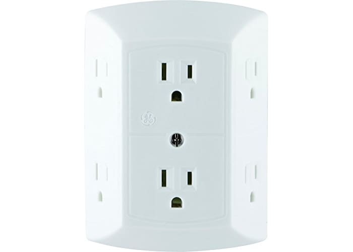 GE 6-Outlet Wall Plug Adapter