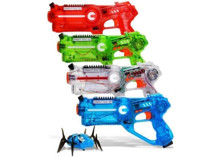 4-Pack Dynasty Toys Laser Tag Set w/ Robot Bug