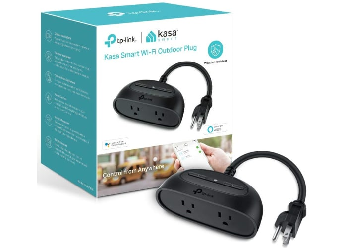 Kasa Smart WiFi 2 Outlet Outdoor Plug
