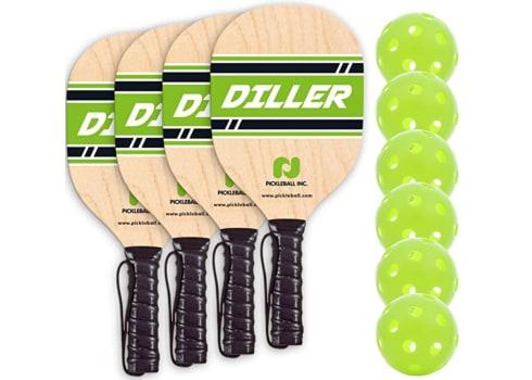 Diller Pickleball Paddle 4 Player Bundle