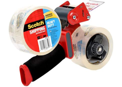 Scotch Heavy Duty Packaging Tape (2 rolls) + Dispenser