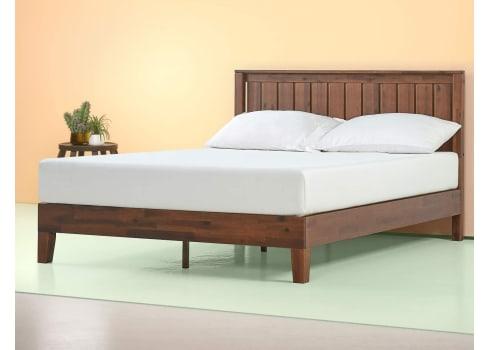 """Zinus Vivek 12"""" Deluxe Wood Platform Bed with Headboard"""