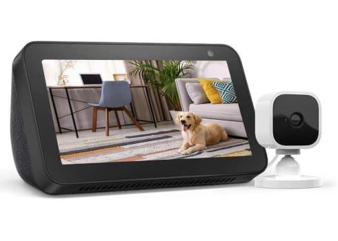 Echo Show 5 with Blink Mini Indoor Smart Security Camera