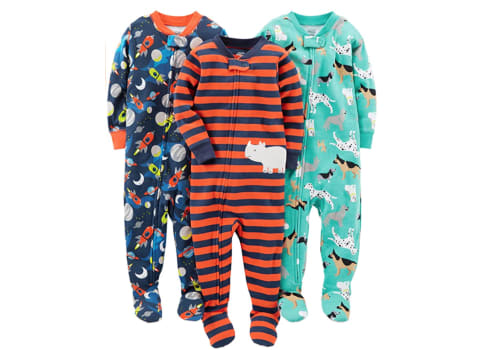 Carter's Boys' 3-Pack Footed Pajamas