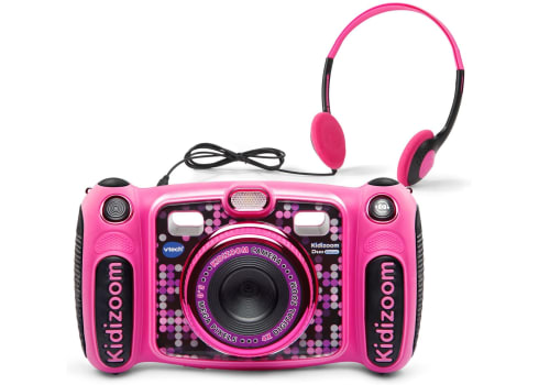VTech Kidizoom Duo 5.0 Deluxe Digital Selfie Camera with MP3 Player and Headphones