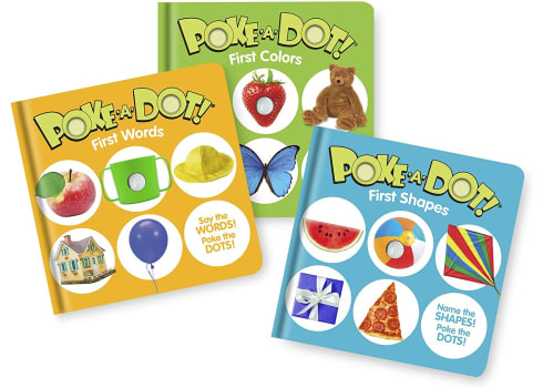 Melissa & Doug Children's Books 3-Pack -- Poke-a-Dot First Words, First Shapes, First Colors