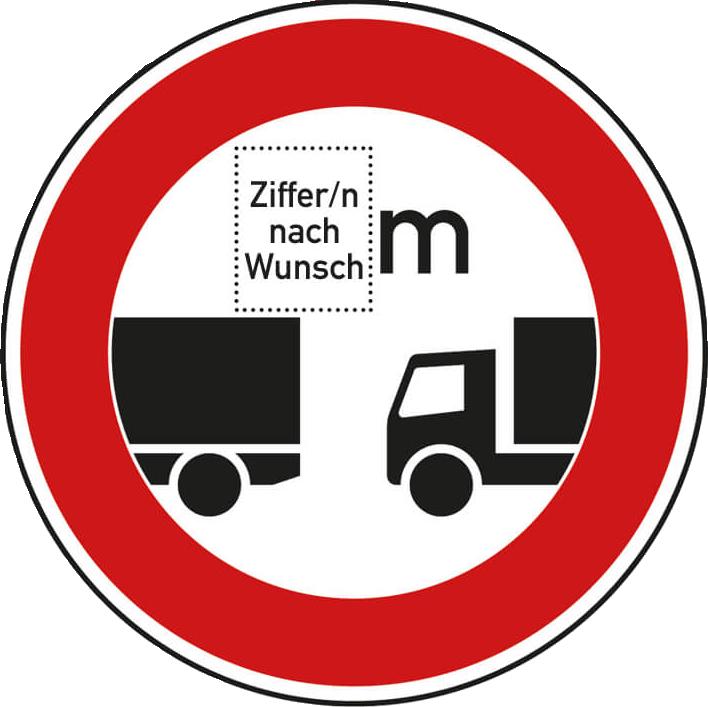 Individuelle Verkehrszeichen