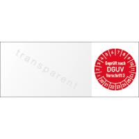 Kabelprüfplakette - Geprüft nach DGUV Vorschrift 3, 2020 - 2025
