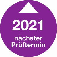 Prüfplaketten - Nächster Prüftermin 2021