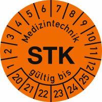 Prüfplaketten - Medizintechnik STK gültig bis, Jahr 2020 - 2025