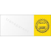 Kabelprüfplakette - Geprüft von ___ nach DGUV Vorschrift 3, 2020 - 2029