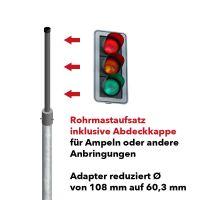 Rohrmast-Ampelaufsatz inklusive Abdeckkappe