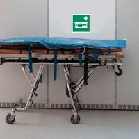 Krankentrage nach ASR A 1.3, BGV A8, DIN 67510, VBG 125, DIN 4844-2 (BGV A8 E 04)