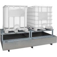 Auffangwanne für 1000-Liter-Behälter mit Abfüllbock