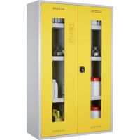 Chemikalien- und Giftschrank mit Plexiglastüren - storeLAB®