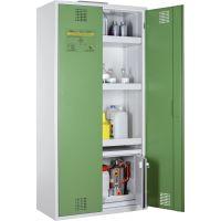 Chemikalien- und Giftschrank mit Sicherheitsbox - storeLAB® grün