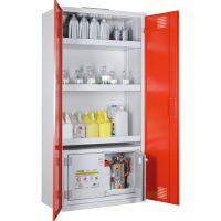 Chemikalien- und Giftschrank mit Sicherheitsbox - storeLAB® rot
