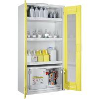 Chemikalien- und Giftschrank mit Sicherheitsbox mit Plexiglastüren - storeLAB®