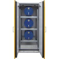Sicherheits-Fass-Schrank für liegende Fässer (übereinander) oder Kleingebinde - storeLAB®