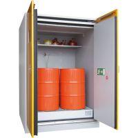 Sicherheits-Fass-Schrank mit Unterfahrsockel - storeLAB®