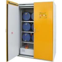Sicherheits-Fass-Schrank für liegende Fässer (nebeneinander) oder Kleingebinde - storeLAB®