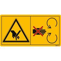 Während des Betriebes Schutzeinrichtungen nicht öffnen oder entfernen