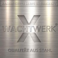 Regalanfahrschutz WACHTWERK X® aus Stahl mit Leitrolle LOGO
