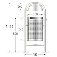 Rund-Abfallbehälter DS35 - Inhalt 35 Liter