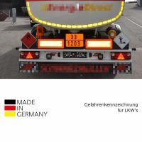 Kleine Warntafel neutral für PKW und Transport gemäß GGVSEB / ADR