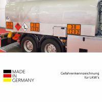 Warntafel orange für Dieselkraftstoff / Heizöl gemäß GGVSEV / ADR