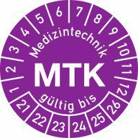 Prüfplaketten - Medizintechnik MTK gültig bis ...