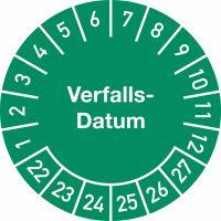 Prüfplaketten - Verfalls-Datum