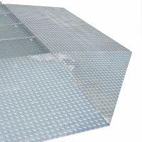 Auffahrrampe für modulare Sicherheitsbodenelemente aus Stahl