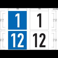 Hausnummernschild ohne Straßenangabe