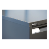 Hängeregistraturschrank Bisley - einbahnig, 2 HR-Schubladen