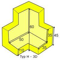 Eckschutzwinkel dreidimensional für Profil H