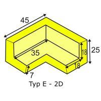Eckschutzwinkel zweidimensional für Profil E