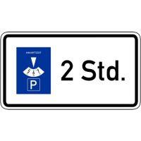 Parkscheibe ...Stunden Zusatzschild VZ 1040-32
