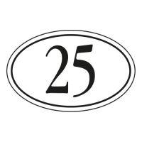 Emaille-Hausnummernschild - Oval