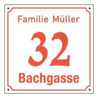Emaille-Hausnummernschild - Rechteckig