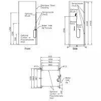 Dekontaminationsdusche mit zwei Ein- und Ausgängen