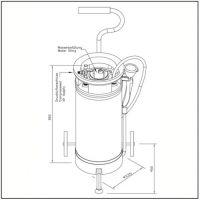 Mobile Tank Augendusche mit Edelstahltank - 16 Liter