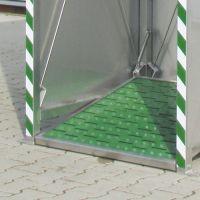 Plattformbetätigung für Tank-Notdusche zusätzlich zur Druckstange
