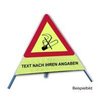 Faltsignal - Rauchverbot mit Text nach Ihren Angaben