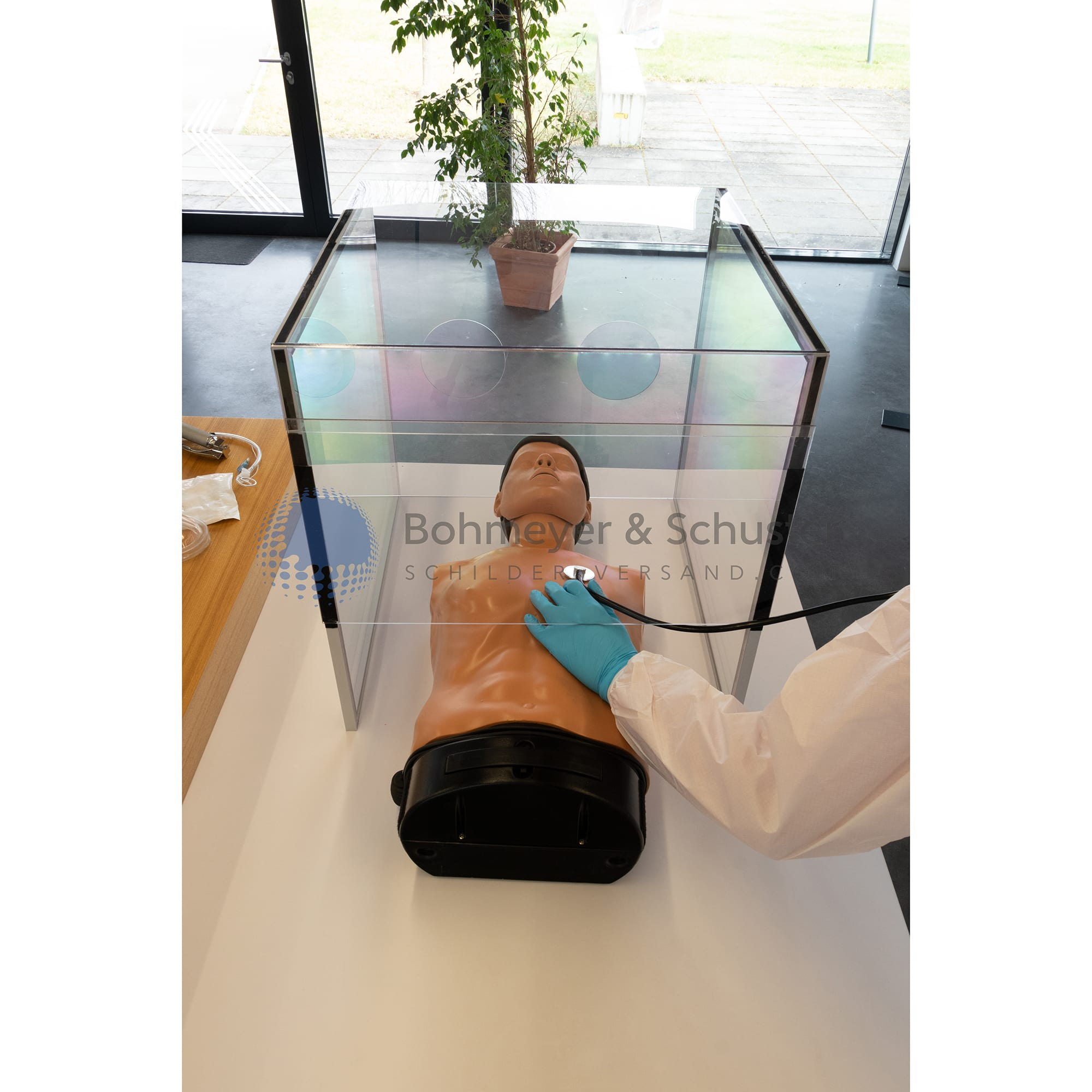 MOEDEL Healthy and Safety Head-Box aus PETG - transparent