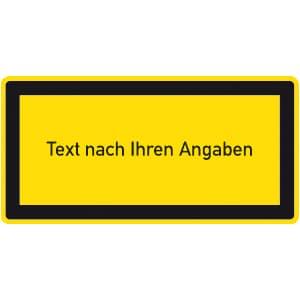 Hinweisschild zur Laserkennzeichnung mit Text nach Ihren Angaben