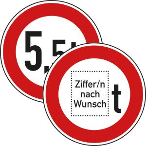 VZ 262 - Verkehrsschild Verbot über tatsächliches Gewicht